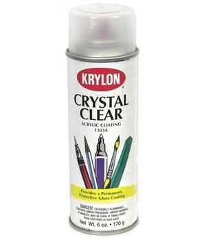 Krylon Acrylic Crystal Clear Spray Coating-6 Ounces