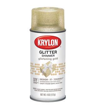 Krylon Aerosol Glitter Sprays-4 oz/Silver or Gold