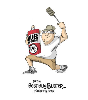Art Impressions Father's Day Cling Rubber Stamp Bug Buster