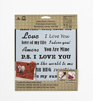 FolkArt ® Painting Stencils - Laser - Words/Phrases - Love