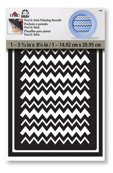 Folk Art Sticky Stencil Chevron Thick Thin