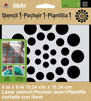 FolkArt ® Stencil1 ® Laser Stencils - Small - Asian Dots