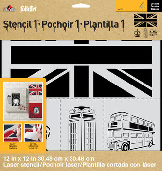 FolkArt ® Stencil1 ® Laser Stencils - London Set