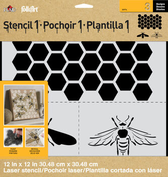 FolkArt ® Stencil1 ® Laser Stencils - Honey Bee Set