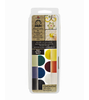 FolkArt ® Dry Brush Stencil Creme Set - Basic