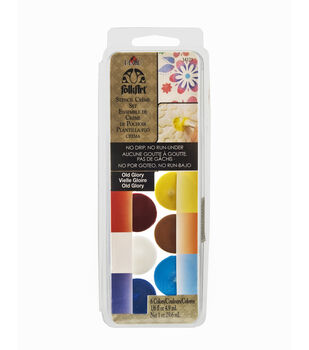 FolkArt ® Dry Brush Stencil Creme Set - Old Glory