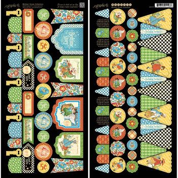 Graphic 45 Mother Goose Cardstock Die-Cuts Banners