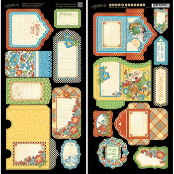 Graphic 45 Mother Goose Cardstock Die-Cuts Tags & Pockets