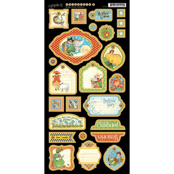 Graphic 45 Mother Goose Chipboard Die-Cuts Tags 2