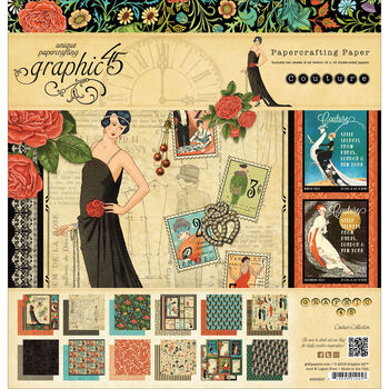 Graphic 45 Couture Double-Sided Paper Pad 12''x12''