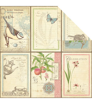 Graphic 45 Love Notes - Botanical Tea Double Sided Cardstock