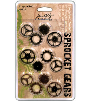 Tim Holtz Idea-Ology Sprocket Gears Antique Metallic