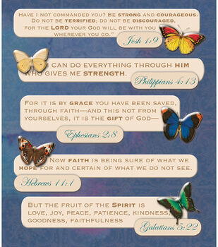 K & Company Stickers-Bible Quotes