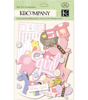 K&Company Cardstock Die-Cuts-Itsy Bitsy Baby Girl
