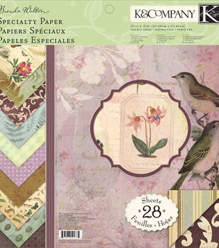 K & Company Specialty Paper Pad Flora And Fauna