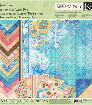 "Julianne Vintage All-In-One Paper Pad 12""X12"""