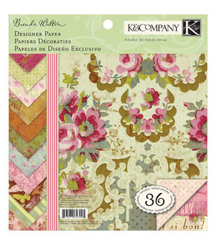 K & Company 8-1/2''x8-1/2'' Paper Pad-Madeline