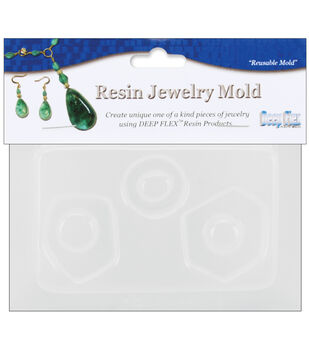 """Yaley Resin Jewelry Reusable Plastic Mold 3.5""""X4.5""""-3 SmAbstractShapes"""