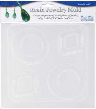 "Yaley Resin Jewelry Reusable Plastic Mold 6.25""X7""-Diamond & Round"