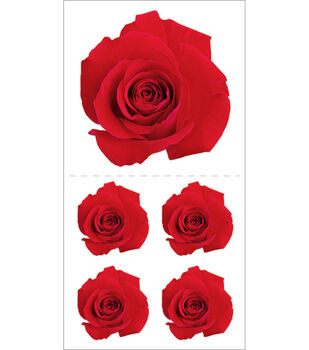 Paper House Stickers-Red Rose
