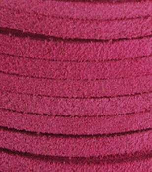 Silver Creek Leather Co. Suede Lace 1/8''x25 Yards-Pink