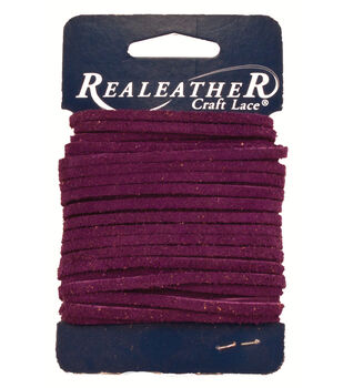 Silver Creek Leather Co. Suede Lace 1/8''x25 Yards-Royal Purple