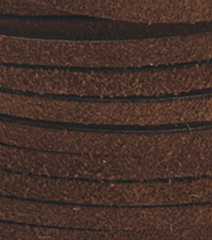 Silver Creek Leather Co. Suede Lace 1/8''x25 Yards-Dark Brown