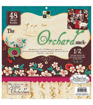 DCWV 12''x12'' Gilded Orchard Printed Hanging Stack