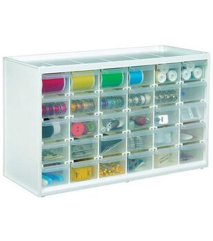 Store-In-Drawer Cabinet W/30 Transparent Drawers