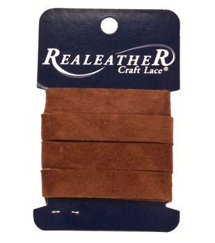 "Leather Strip .5""X36""-Medium Brown"