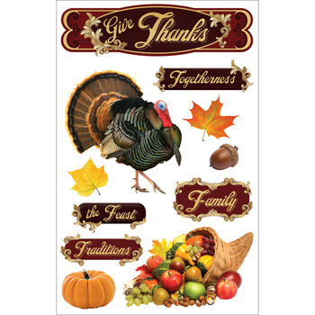 Give Thank-3d Stickers