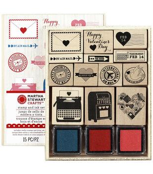Martha Stewart Crafts Valentine Mounted Stamp Set Love Notes