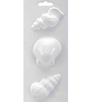 Soapsations 4''x9'' Soap Mold-Seashells