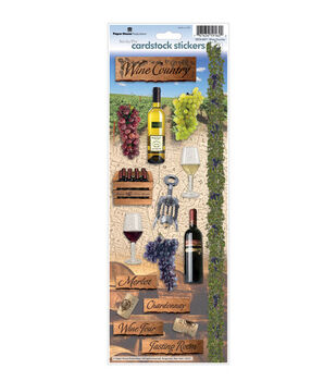 Paper House Cardstock Stickers-Wine Country