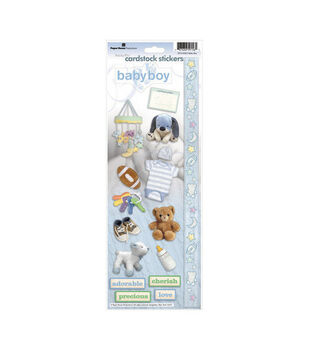 Paper House Cardstock Stickers-Baby Boy