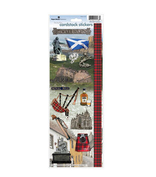 Paper House Cardstock Stickers-Scotland