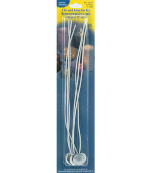 Yaley 9'' Pre-Waxed Wire Wicks-6PK/Medium