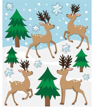 Sticker Medley-Reindeer & Trees