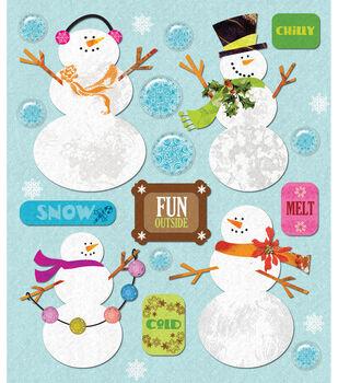 Sticker Medley-Snowmen