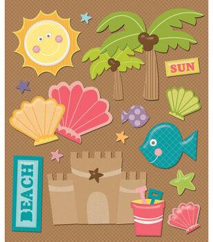 Sticker Medley-Beach Seashells