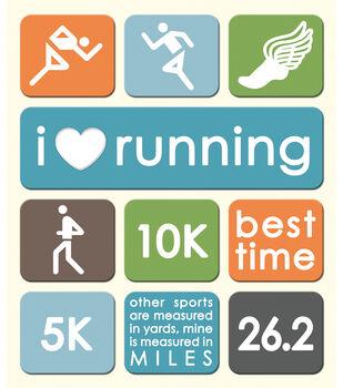 K & Company Stickers-Running-Track
