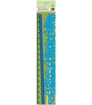 K&Company Adhesive Paper Borders-Sheer Simplicity Blue