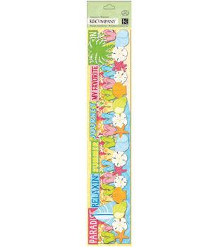 K&Company Adhesive Paper Borders-Citronella Travel