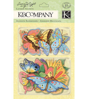 K & Company Spring Blossom Layered Accents Bugs & Butterflies