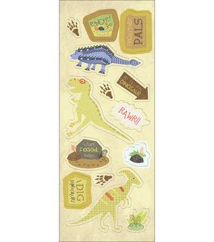 "Imaginisce Chipboard Stickers 5""X12"" Sheet-Prehistoric Pals"