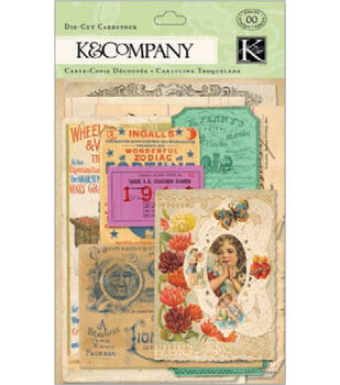 K&Company Cardstock Die-Cuts-Life's Journey Ephemera