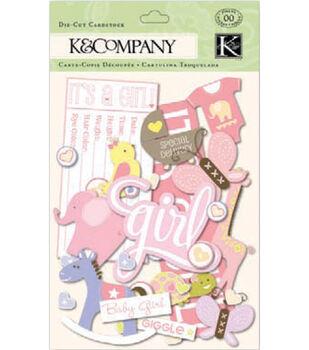 K&Company Cardstock Die-Cuts-Itsy Bitsy Baby Girl
