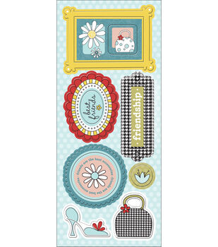 """Chipboard Stickers 4.75""""X12""""-Note-orious"""