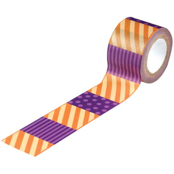 Striped -halloween Paper Tape