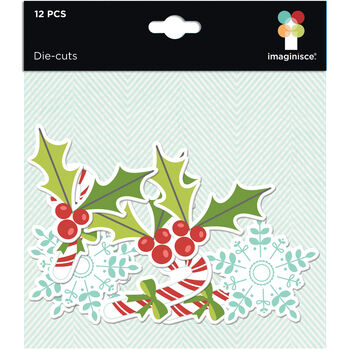 Imaginisce Colors Of Christmas Cardstock Die-Cuts Icons